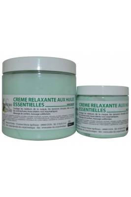 Crème massage RELAXANTE aux HE détente et confort