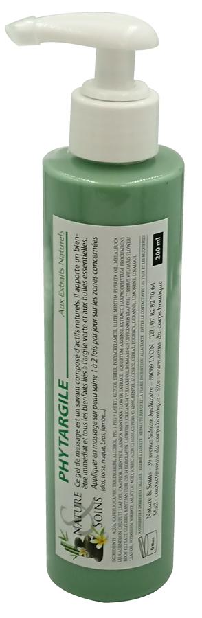 Phytargile massage, en gel à base d'Arnica, d'Harpagophytum, d'argile verte